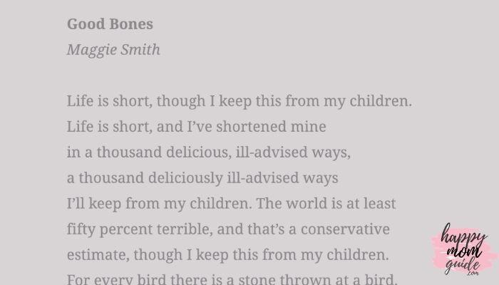 Good Bones Maggie Smith